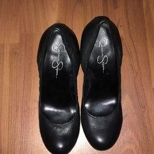 Jessica Simpson leather wedges!